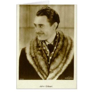 John Gilbert 1920s vintage portrait card
