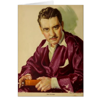 John Gilbert 1930 movie exhibitor ad Card