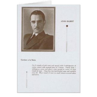 John Gilbert Caviar recipe Card