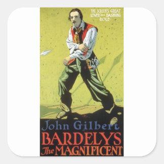 John Gilbert in Bardelys the Magnificent mug Square Sticker