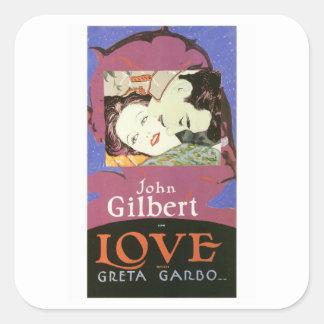 John Gilbert in LOVE with Greta Garbo Square Sticker