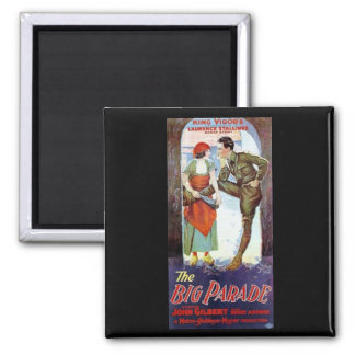 John Gilbert in The Big Parade 2 Inch Square Magnet