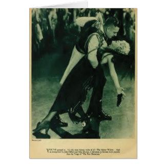 John Gilbert Mae Murray 1925 vintage portrait card