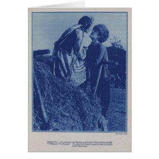 John Gilbert Renee Adoree 1928 production photo Card