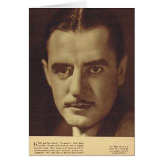 John Gilbert  Vintage Portrait Card