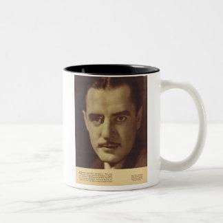 John Gilbert  Vintage Portrait Two-Tone Coffee Mug