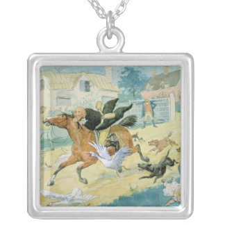 John Gilpin riding to Edmonton Silver Plated Necklace