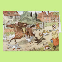 John Gilpin ridings though the village Card