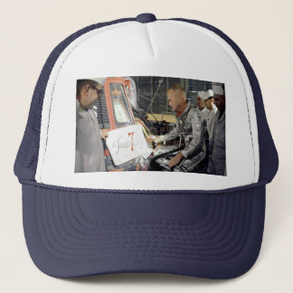John Glenn Helps With Friendship 7 Trucker Hat
