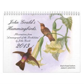 John Gould's Hummingbirds Calendar