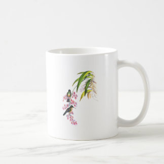 John Gould's Pink Orchids and Hummingbirds Classic White Coffee Mug