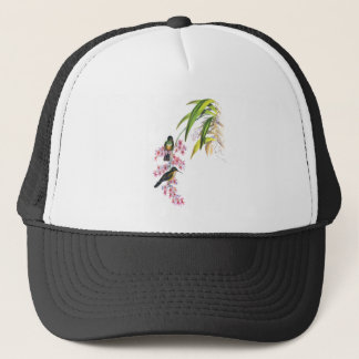 John Gould's Pink Orchids and Hummingbirds Trucker Hat