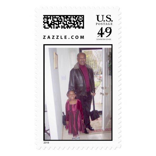 John & Grandaugter Postage Stamp