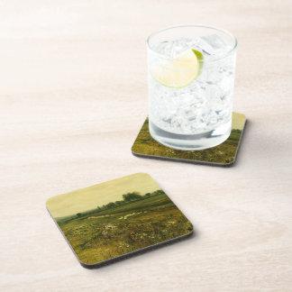 John Grimshaw- An Extensive Meadow Landscape Beverage Coasters