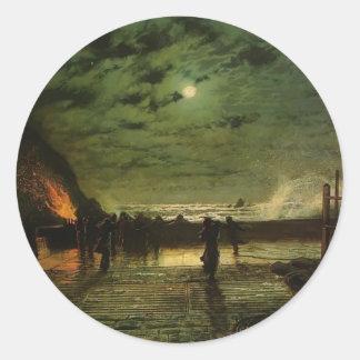 John Grimshaw- In Peril (The Harbour Flare) Classic Round Sticker