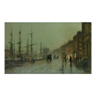 John Grimshaw - Shipping on the Clyde, 1881 Poster