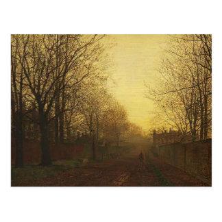 John Grimshaw- Wimbledon Park, Autumn After Glow Post Cards