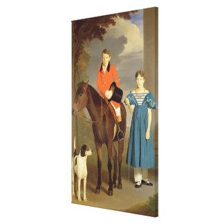 John Gubbins Newton and his Sister Mary, 1832-33 ( Canvas Print