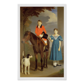 John Gubbins Newton and his Sister Mary, 1832-33 ( Poster