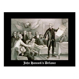John Hancock's Defiance Postcard