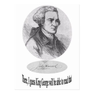 John Hancock, Signature and Quote Postcard