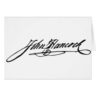 John Hancock Signature Card