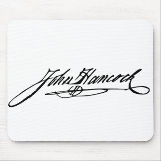 John Hancock Signature Mouse Pad
