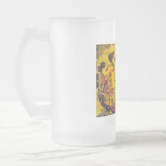 John has  makes art and has Cerebral Palsy Frosted Glass Beer Mug