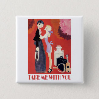 John Held's Take Me With You Pinback Button