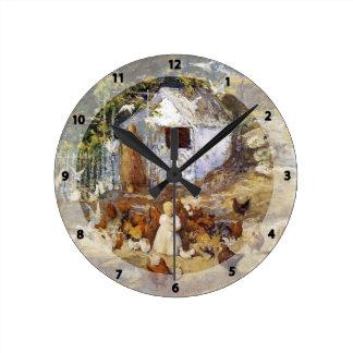 John Henry Twachtman- Barnyard Wall Clocks