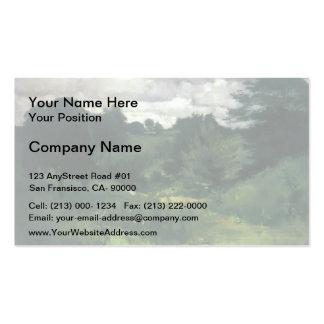 John Henry Twachtman- Dark Trees, Cincinnati Business Card