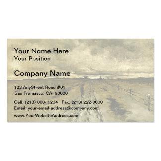 John Henry Twachtman- Road Scene, Cincinnati Business Card Template