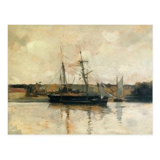 John Henry Twachtman- Sailing Boats, Dieppe Harbor Postcard