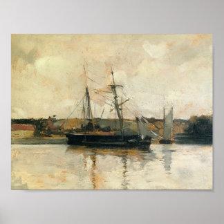John Henry Twachtman- Sailing Boats, Dieppe Harbor Posters