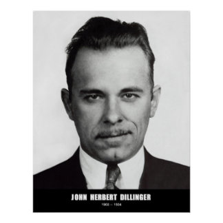 John Herbert Dillinger Poster