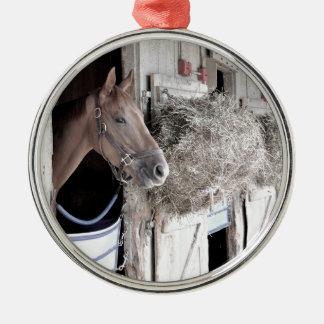 John Hertler Stables Metal Ornament