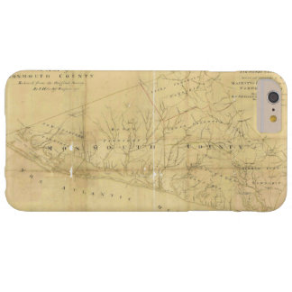 John Hills Map of Monmouth County New Jersey 1781 Barely There iPhone 6 Plus Case