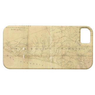 John Hills Map of Monmouth County New Jersey 1781 iPhone 5 Cover