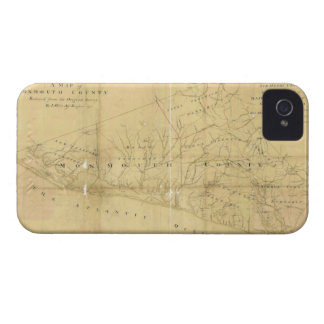 John Hills Map of Monmouth County New Jersey 1781 iPhone 4 Cover