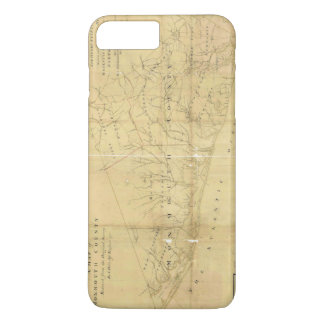 John Hills Map of Monmouth County New Jersey 1781 iPhone 7 Plus Case