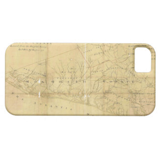 John Hills Map of Monmouth County New Jersey 1781 iPhone SE/5/5s Case