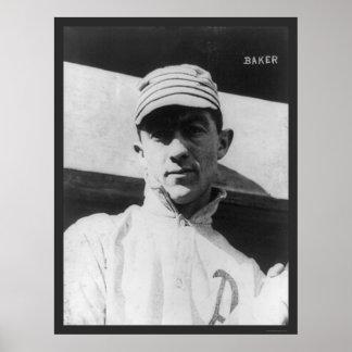 John (Home Run) Baker Athletics Baseball 1914 Poster