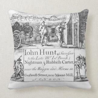 John Hunt, Nightman and Rubbish Carter, near the W Throw Pillow