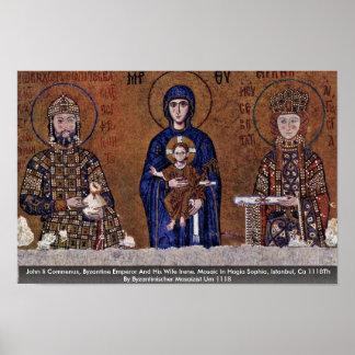 John Ii Comnenus, Byzantine Emperor And His Wife Poster