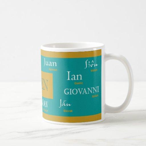 John International Name Mug
