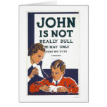 John Is Not Dull 1937 WPA Greeting Card