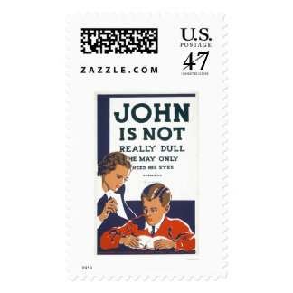 John Is Not Dull 1937 WPA Postage