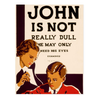 John is not really dull post cards