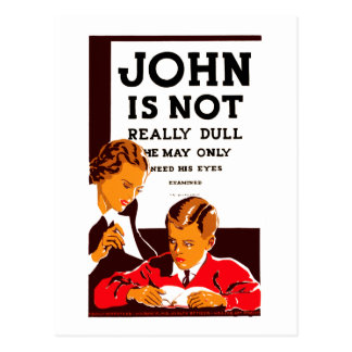 John is Not Really Dull Postcard