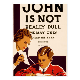 John is not really dull postcards